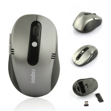 10M 2.4G Wireless Optical USB Mouse for Laptop PC Gray