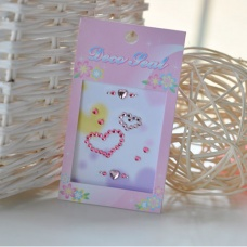 mobile phone DIY paste nail sticker notebook stickers pink heart