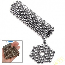 125 x 5mm Magic Magnet Magnetic DIY Balls Sphere Neodymium Cube Puzzle Toy