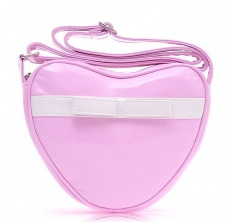 Pink heart-shaped PU Leather Versatile Compact Bag/ Shoulder Bag/ Messenger Bag