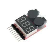 Lipo Battery Low Voltage Tester 1-8S Buzzer Alarm