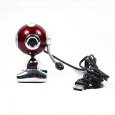 5.0 MP USB 2.0 PC Camera Webcam with Mic Dark Red