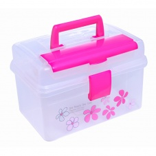 household transparent health kits storage box color random