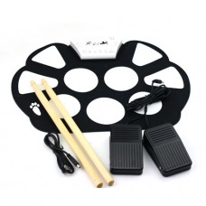 W758 Portable 9 Pad Drum Roll-Up Drum Kit High Quality Material