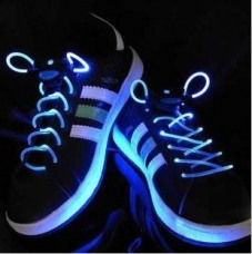 Creative dazzle colour LED luminous shoelace LED flash luminous shoelace fluorescence luminous dazzl