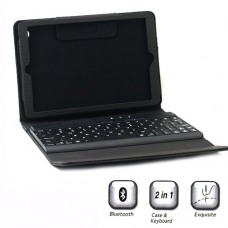 2in1 Bluetooth Wireless Keyboard Leather Stand Pouch Case for iPad Mini