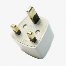 3-pin UK Travel Plug Power Adapter Converter White