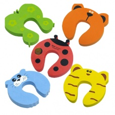 Cartoon U shaped door stop random color