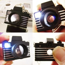 Camera Flash Light LED Key Chains Shutter Sound Toy New
