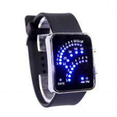 29 LED Blue LED Digital Unsex Silicone Candy Band Wrist Watch