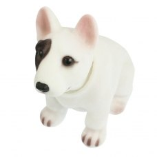 Auto Fragrant Bull Terrier Nodding Bobblehead Dashboard Dogs Toys White