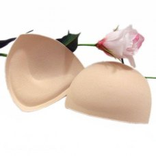 2pcs Push Up Beige Foam Sponge Inserts Bra Pads Swimsuit Underwear Bikini Soft