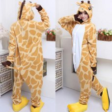 fashion lovers cartoon pajamas home service men and women giraffe animal cartoon costume