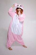 Cute Pink Mouse cartoon pajamas home service men and women couple Siamese cartoon costume