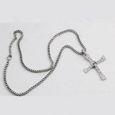 1pcs Toretto Alloy Necklace Pendant Swarovski Crystals Cross the Fast Five Movie