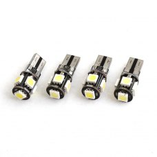 View large image 4 Pcs T10 W5W Canbus Wedge 5050 5-SMD LED Light Bulb Lamp White 12V