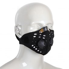 Motorcycle Black Mesh Design Detachable Closure Mouth Mask