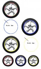 17'' Car Motorcycle Wheel Rim Stripe Tape Stickers Decal Fluorescent Colors