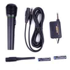 KONGIN KM-306 Portable Mini Karaoke Wireless Microphone Black