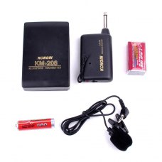 KONGIN KM-208 Portable Mini Karaoke Wireless Microphone Black