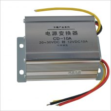 10A DC 24V to 12V Car Power Supply Transformer Converter