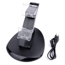 Dual USB Charging Dock Stand Charger For Sony PlayStation 4 PS4 Controller