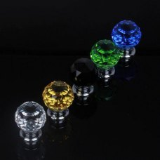 Fashionable Crystal Glass Sparkle Handle Knobs For Cabinet Cupboard Door Drawer