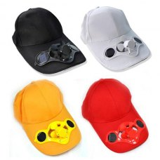 Solar Power Hat Cap Cooling Cool Fan for golf Baseball