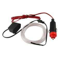 2 Meter EL Wire 2.3mm Neon White Glow Light Car Charger