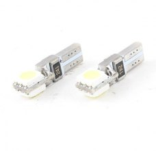 Vehicle Car White 2 5050 SMD LED Instrument Board Light Bulb T5 x 2