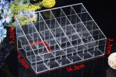 24 Cells Lipstick Showing Holder Makeup Cosmetic Trapezoid Display Stand