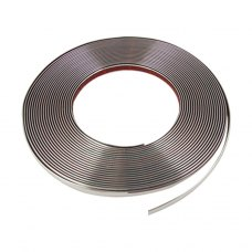 8mm x 15M Silver Tone Soft Chrome Moulding Trim Strip Car Decors