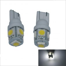 10pcs T10-5050-5 SMD car led light shown wide light license plate lamp reading lamp driving lights
