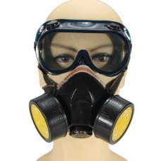 Industrial Ga Anti Dust Paint Respirator Mask Chemical + Eye Goggles