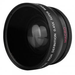HD 55MM 0.45X Wide Angle Macro Camera Lens