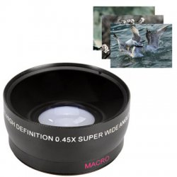 58mm 0.45X Super Wide Angle Macro Lens for Canon EOS 500D Rebel T1i T2i