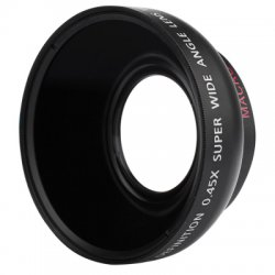 46MM 0.45X Wide Angle Macro Camera Lens for Panasonic HDC TM700 / HS700 / SD700