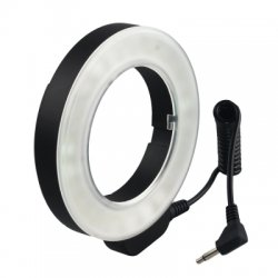 48 LED Macro Ring Continuous Light 49 67MM 6 Lens Adapter Ring for Nikon Canon
