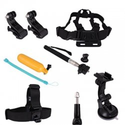 7 In 1 Chest Head Strap Floating Hand Grip Monopod Mount Accessories Kit for Gopro Hero 1 2 3 3+ 4 Camera