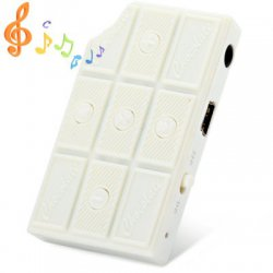 Cute Chocolate Style Stereo Sound MP3 Player with Universal 3.5mm Jack Support TF Card for Music