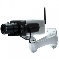 Battery Powered Practical Economic Dummy CCTV Security Camera with Activation Light