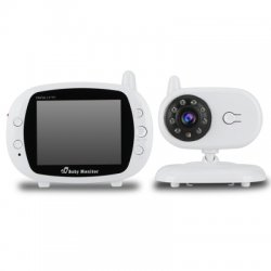 3.5 Inch LCD IR Night Vision Baby Monitor Wireless Video Temperature Time Display 2-Way Talk GS-850