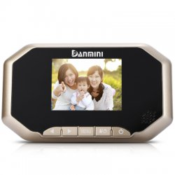 Danmini YB - 30AHD 3.0 inch TFT LCD Screen Night Vision Wide Angle Video Record Photo Shooting Digital Door Peephole Viewer