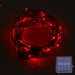 12M 120 LEDs Solar Powered Copper String Light for Decoration