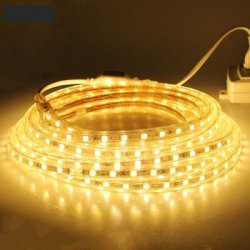 1PCS 3M 220V 5050 180SMD 1350LM 15W Flexible Tape Rope Strip Light Xmas Outdoor Waterproof Garden Outdoor Lighting Christmas Band Eu Plug