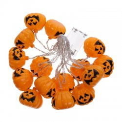 3M Halloween Pumpkin Battery Powered Colorful String LED Light Bar with 16 Lamp Holders