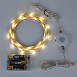 1.5M DC 4.5V Battery Powered Warm White Sensor LED Strip Kit Intelligent Nightlight System