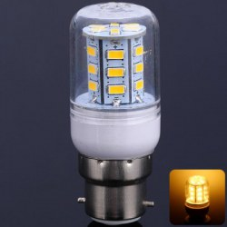10W B22 SMD 5630 24-LEDs 900LM Warm White LED Corn Bulb with Cover (AC 220V)