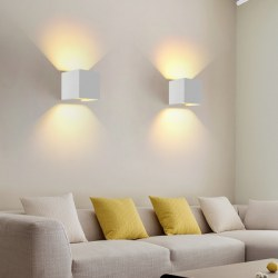 12W Modern Simple Style Square Aluminum COB Waterproof Wall Lamp Indoor Decor Sconces Night Light