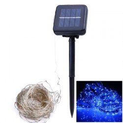 1PC 10M Solar Silver Wire String Light 2Modes LED Fairy String Waterproof Home Yard Christmas Holiday Gareden Decoration